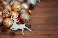 圣诞节装饰背景 免版税图库摄影