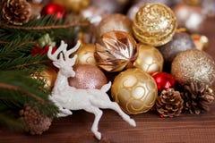 圣诞节装饰背景 库存图片