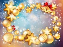 圣诞节装饰背景 10 eps 免版税图库摄影