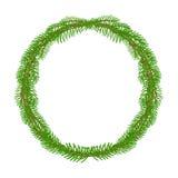 圣诞节装饰花圈圆的框架传染媒介 免版税库存图片
