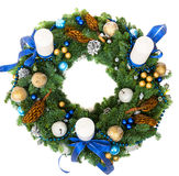 圣诞节装饰花圈 免版税库存图片