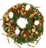 圣诞节装饰花圈 免版税图库摄影