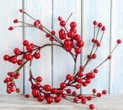 圣诞节装饰花圈 免版税库存照片