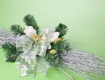 圣诞节装饰花零件 免版税图库摄影