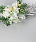 圣诞节装饰花零件 库存照片