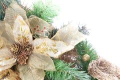 圣诞节装饰花零件 免版税库存照片