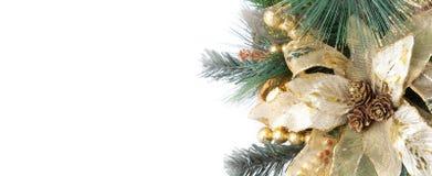 圣诞节装饰花零件 免版税库存图片