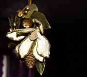 圣诞节装饰花 图库摄影