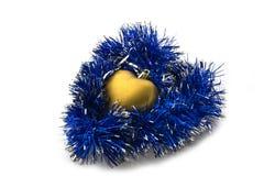 圣诞节装饰表单o闪亮金属片结构树 库存照片