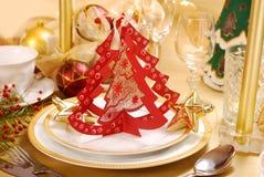 圣诞节装饰表 免版税图库摄影
