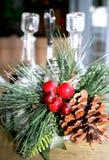 圣诞节装饰表 免版税库存照片
