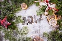 圣诞节装饰装饰新家庭想法 葡萄酒 免版税图库摄影