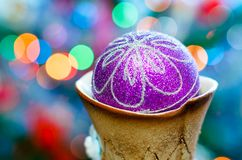 圣诞节装饰装饰新家庭想法 免版税库存图片