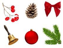 圣诞节装饰要素greati节假日 库存照片