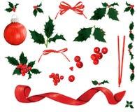 圣诞节装饰要素 图库摄影