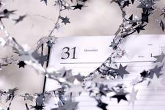 圣诞节装饰记事本 免版税库存图片