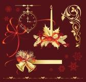 圣诞节装饰设置了 免版税库存照片