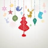 圣诞节装饰设计例证 免版税库存照片
