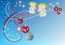 圣诞节装饰设计 免版税库存照片