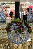 圣诞节装饰详述内部界面 库存照片