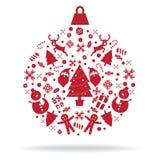 圣诞节装饰象球 库存照片