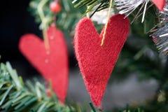 圣诞节装饰重点形状 免版税库存图片