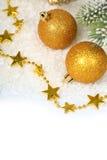 圣诞节装饰重点有选择性的雪 库存照片