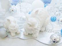 圣诞节装饰野兔结构树 免版税库存图片