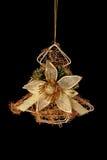 圣诞节装饰金结构树 免版税库存照片