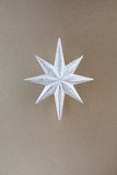 圣诞节装饰银星形 库存照片