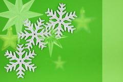 圣诞节装饰银雪花三 免版税库存图片