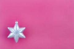 圣诞节装饰银雪花 库存照片
