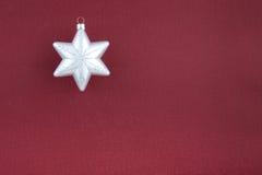 圣诞节装饰银雪花 图库摄影