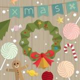 圣诞节装饰门 免版税库存图片