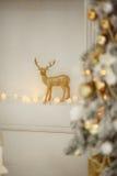 圣诞节装饰隔离白色 工作室 新年度 库存图片
