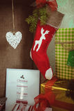 圣诞节装饰隔离白色 图库摄影