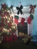 圣诞节装饰隔离白色 免版税图库摄影