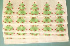 圣诞节装饰隔离白色 免版税库存图片
