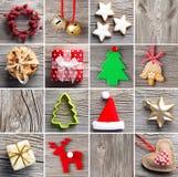 圣诞节装饰集合 库存照片