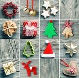 圣诞节装饰集合 库存图片