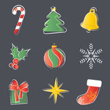 圣诞节装饰集 库存照片