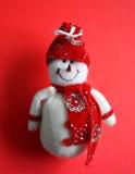 圣诞节装饰雪人 免版税库存图片