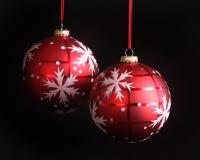 圣诞节装饰雪花 库存照片