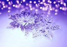 圣诞节装饰雪花 免版税库存照片