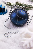 圣诞节装饰雪 免版税库存照片