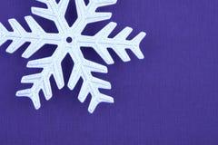 圣诞节装饰零件银雪花 免版税库存图片