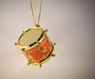 圣诞节装饰鼓玩具 免版税库存图片