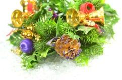 圣诞节装饰,圣诞节花圈 库存图片