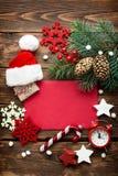 圣诞节装饰,给圣诞老人的信件 免版税库存照片