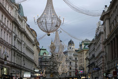 圣诞节装饰维也纳 库存图片